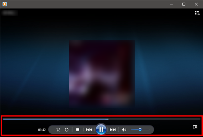 Windows Media Player in Now Playing Mode