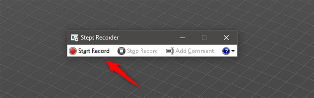 Start Record with Steps Recorder