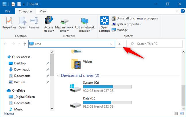 Run command (File Explorer)