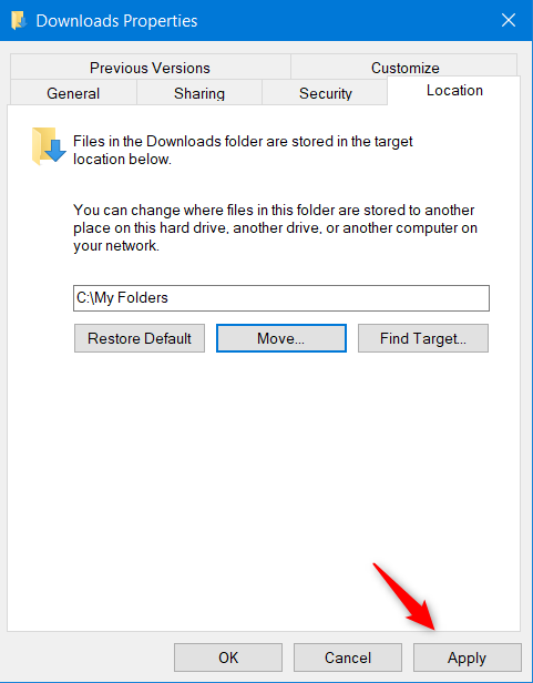 Windows 10 move user folder