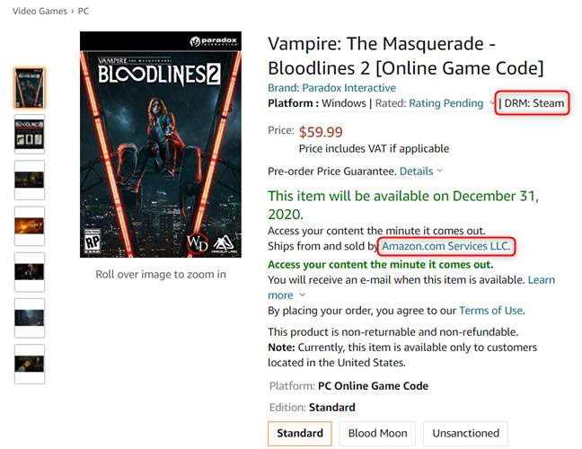 Vampire: The Masquerade - Bloodlines 2 - Steam version
