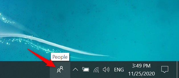 The two people icon in Windows 10