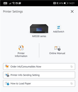 A mobile app for a wireless printer