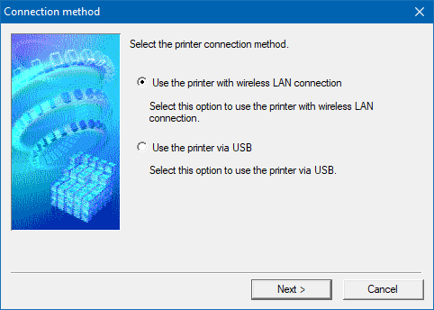 The setup software of a wireless printer