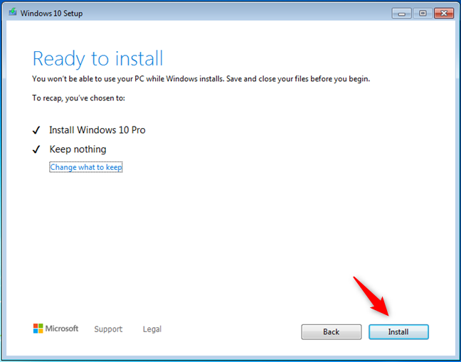 Media Creation Tool is ready to install Windows 10