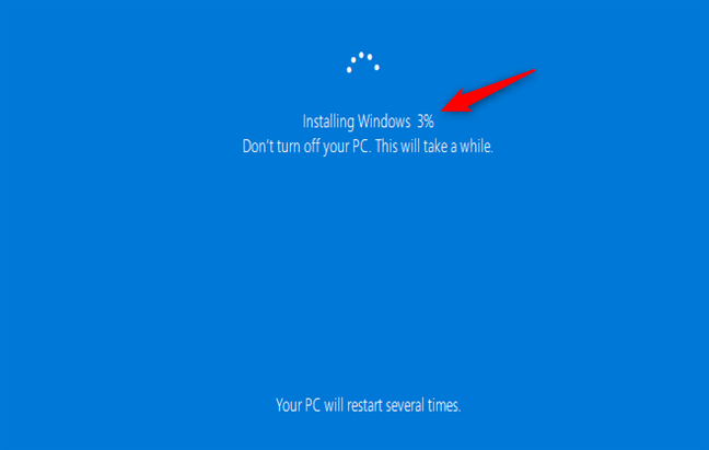 Installing Windows 10 when no files or settings are kept