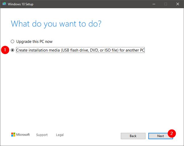 The Windows 10 Media Creation Tool