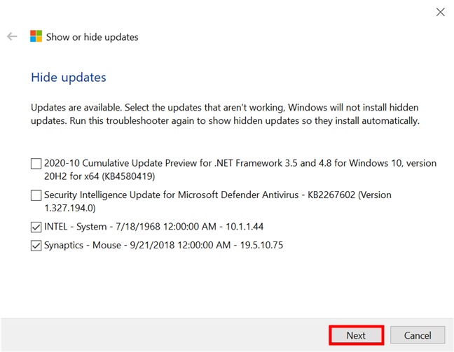 How to use the Show or hide updates tool to stop a Windows 10 update - Digital Citizen