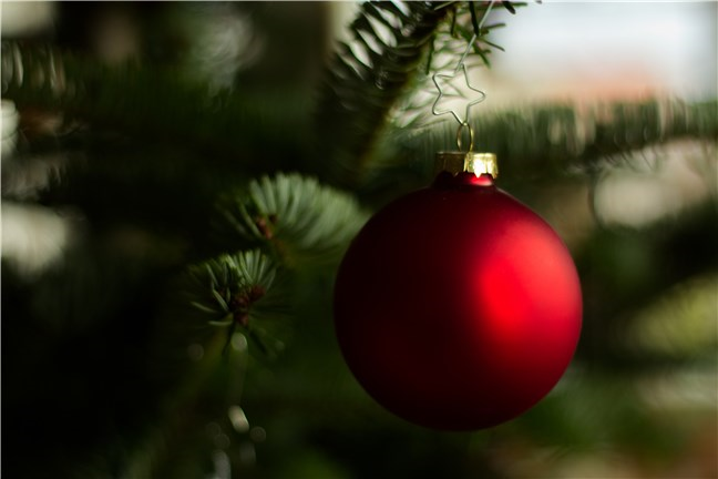 Red Christmas Bauble by Elias Tigiser