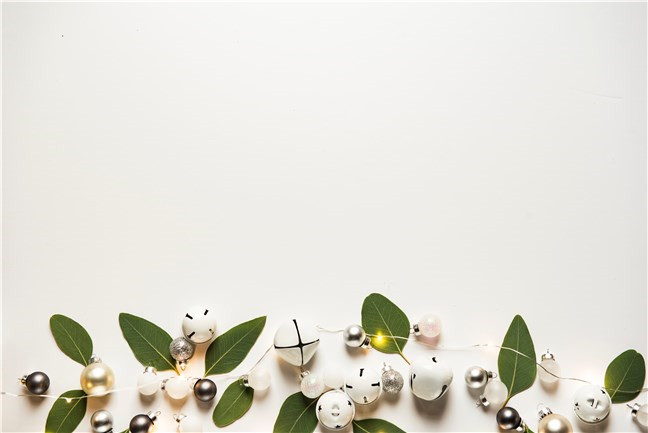 White Baubles and Sleigh Bells by Joanna Kosinska