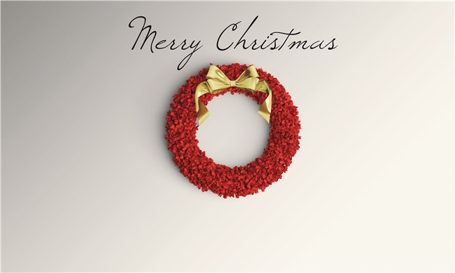 Christmas Wreath by Becca Clark