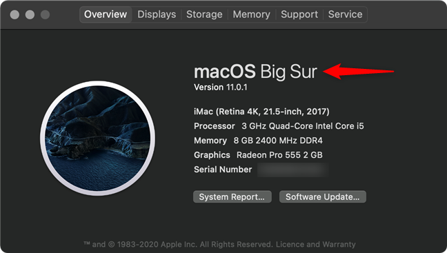 How to check macOS version from the Apple menu