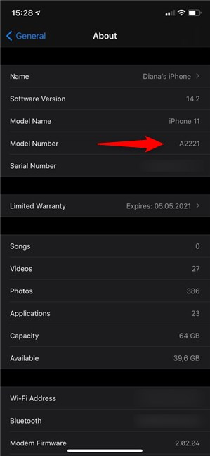 Find out your iPhone's Model Number