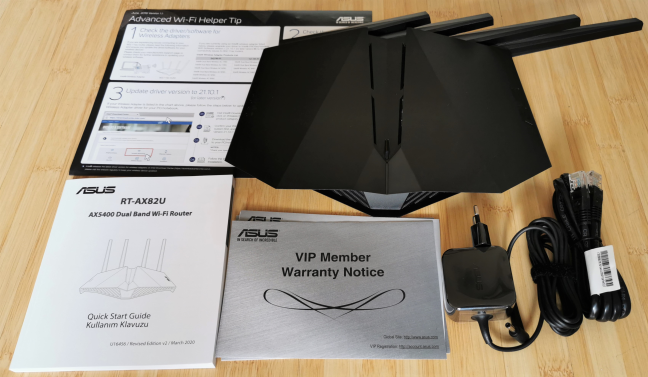 ASUS RT-AX82U - what you find inside the box