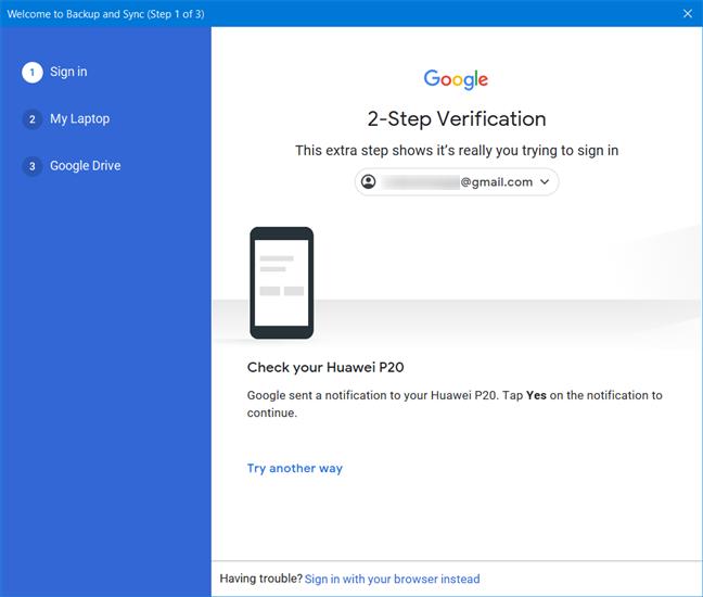 Approve Google's 2-Step Verification