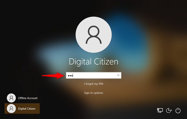 Windows 10 sign-in options: PIN code
