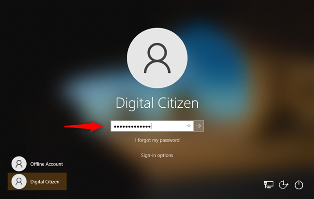 Windows 10 sign-in options: Password