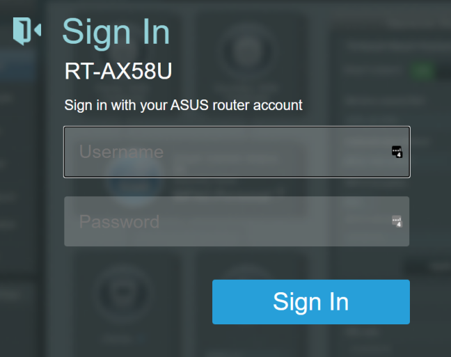 Sign into your ASUS router admin interface