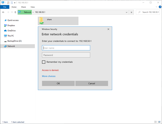 Access your network storage from Windows 10