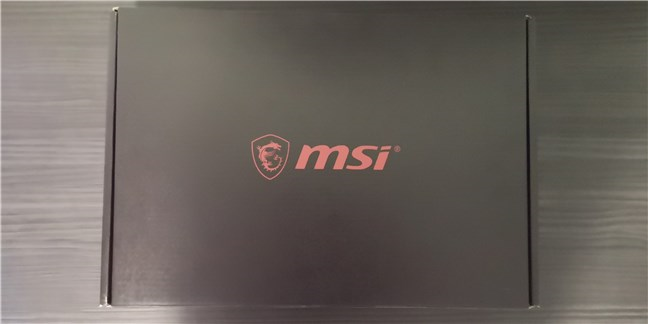 The box containing the MSI GE66 Raider 10SGS gaming laptop