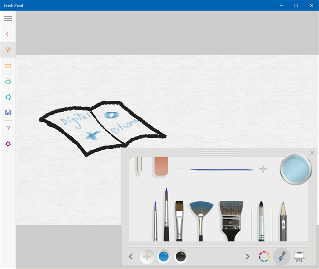 Apps like Paint: Fresh Paint (made by Microsoft)