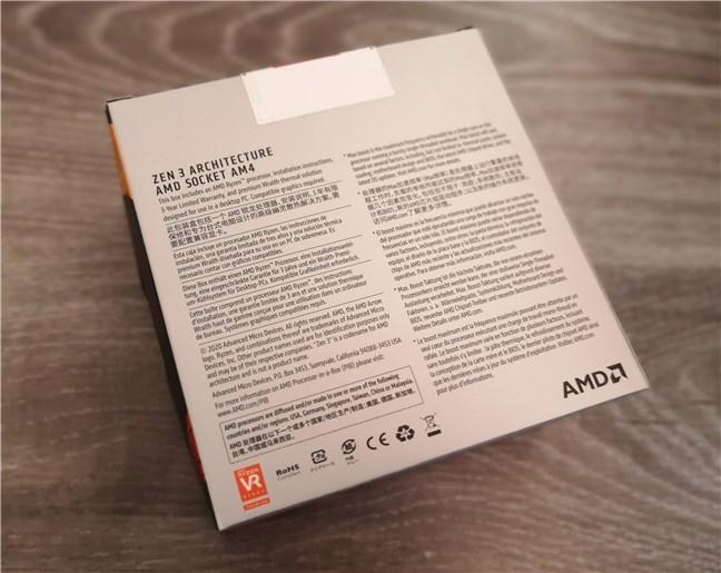 AMD Ryzen 5 5600X: The back of the box