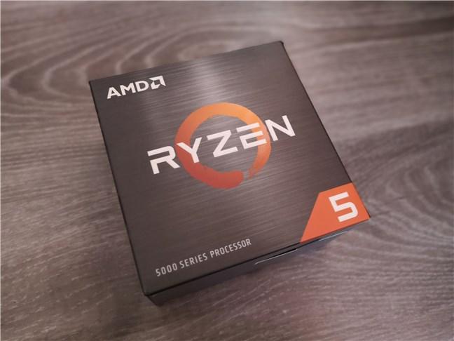 AMD Ryzen 5 5600X: The box