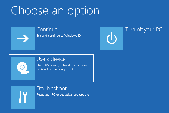 Boot your Windows 10 PC from a USB drive