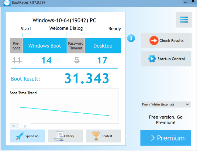 Intel NUC10i5FNH - Boot time
