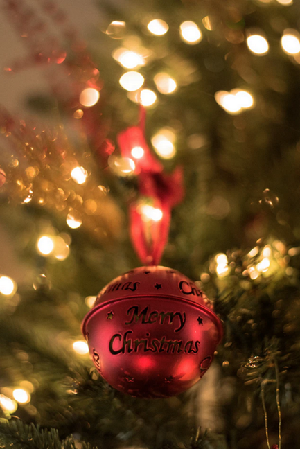 Red Merry Christmas bauble