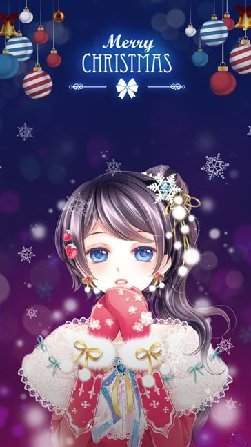 Anime Christmas girl