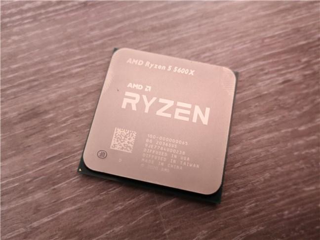 The AMD Ryzen 5 5600X desktop processor