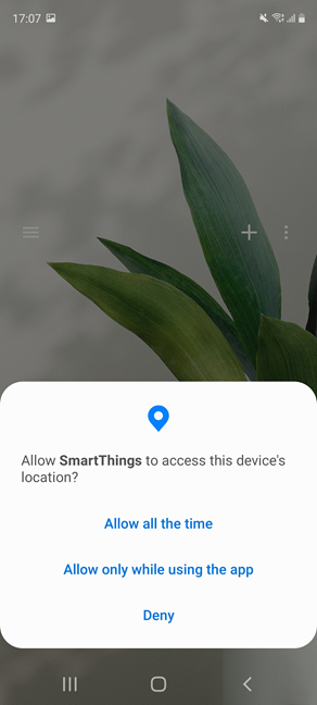 Give SmartThings the necessary permissions