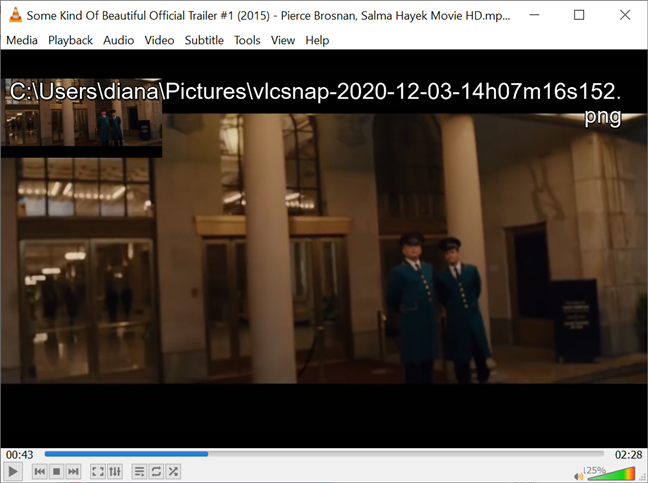 Check your screen to see where does VLC store snapshots