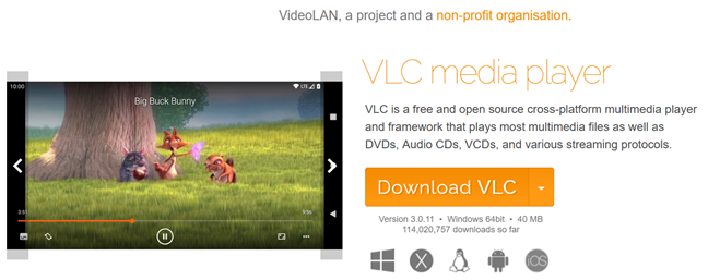 Download VLC from the official website to take movie screenshots