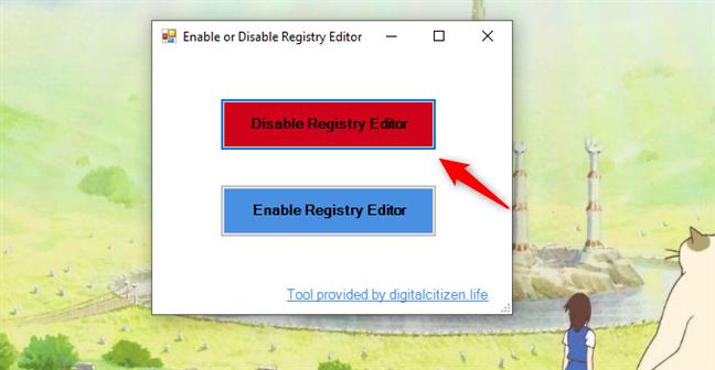 Disable Registry Editor