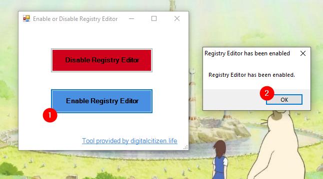Enable Registry Editor