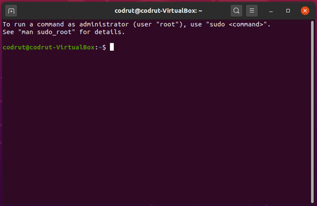 Terminal in Ubuntu Linux
