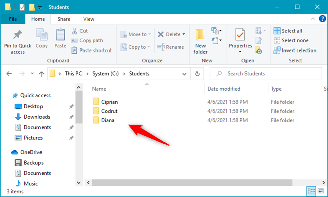 Multiple folders created at the same time