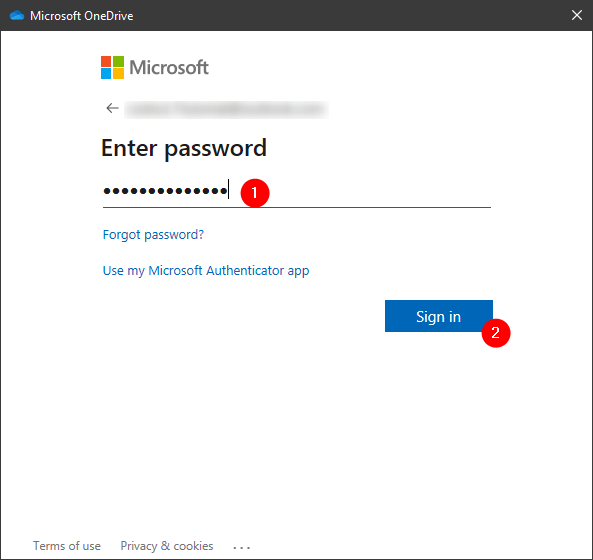 Authenticating to your Microsoft account