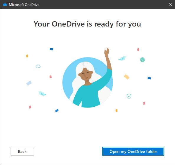 OneDrive is ready