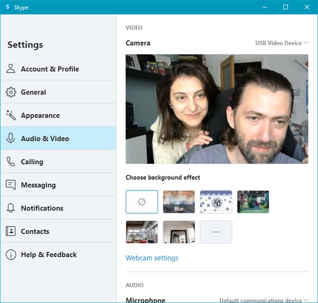 Logitech C270 HD Webcam used in Skype
