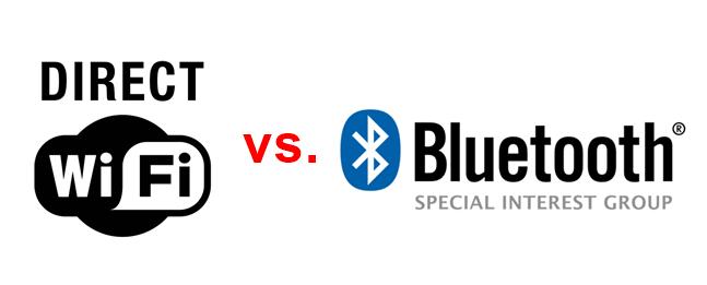 Wi-Fi Direct vs. Bluetooth