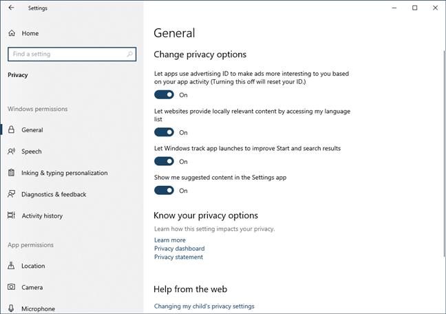 Privacy controls are comprehensive