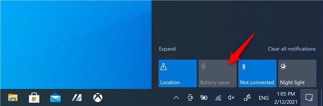 Windows 10's Battery Saver