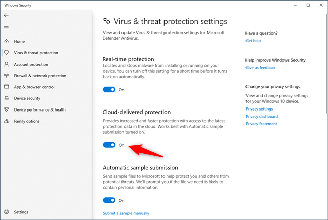 Microsoft Defender Antivirus comes with cloud-delivered protection