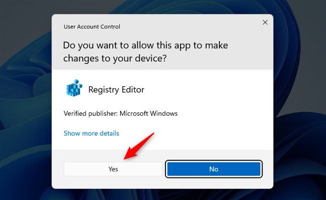 Giving permission to Registry Editor to make changes