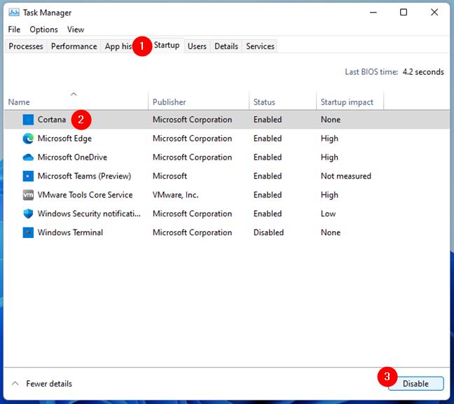 Disabling Cortana from running at Windows startup