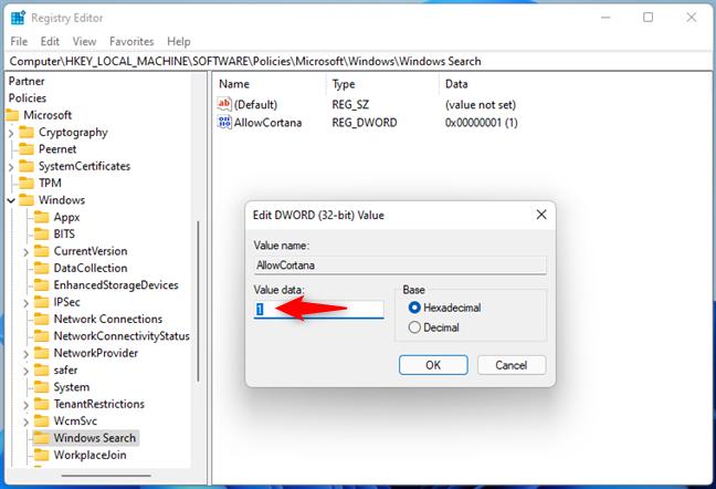 Enabling Cortana in Windows 11