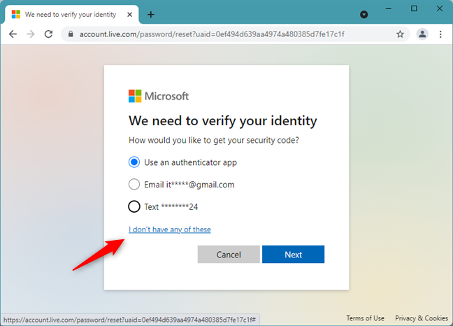How to recover a Microsoft account when you can't get a security code